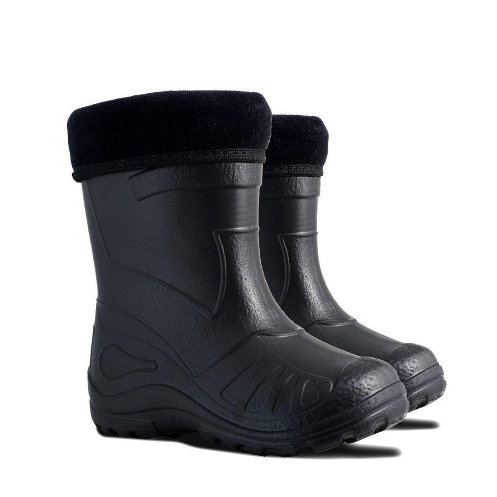 Demar Kids' Lightweight Gumboots, Otter, Black