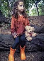 gumboots for kids orange