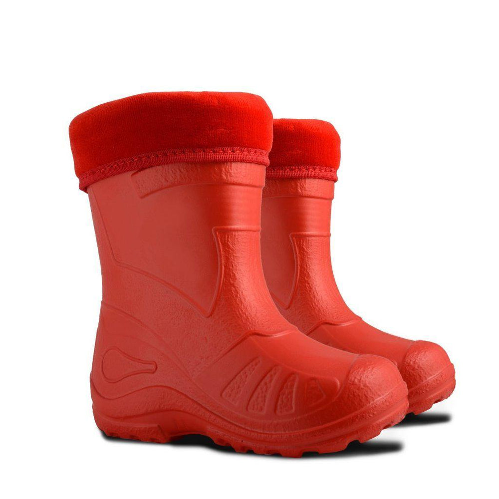 Demar Kids' Lightweight Gumboots, Otter, Red