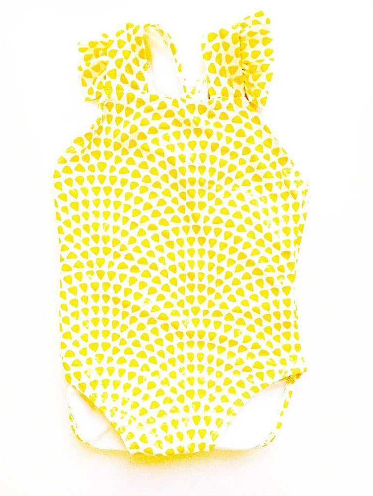 Matching Swimwear, Girls' One Piece Swimsuit, Lemon Drops
