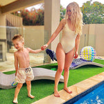 Matching Swimwear, Boys' Board Shorts, Lemon Drops - Upper Notch Club