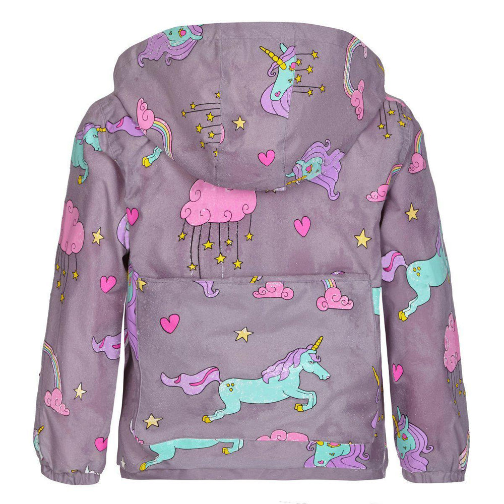 kids' colour changing raincoat unicorn design Holly and Beau