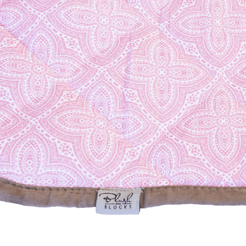 blush-and-blocks-picnic-mat-waterproof-play-mat-small pink close up