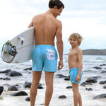father son matching board shorts
