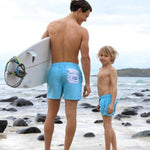 Matching Swimwear, Men's Board Shorts, Floral Pocket