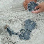 Beach Toy Set, Silicone Bucket, Spade and Moulds, Charcoal