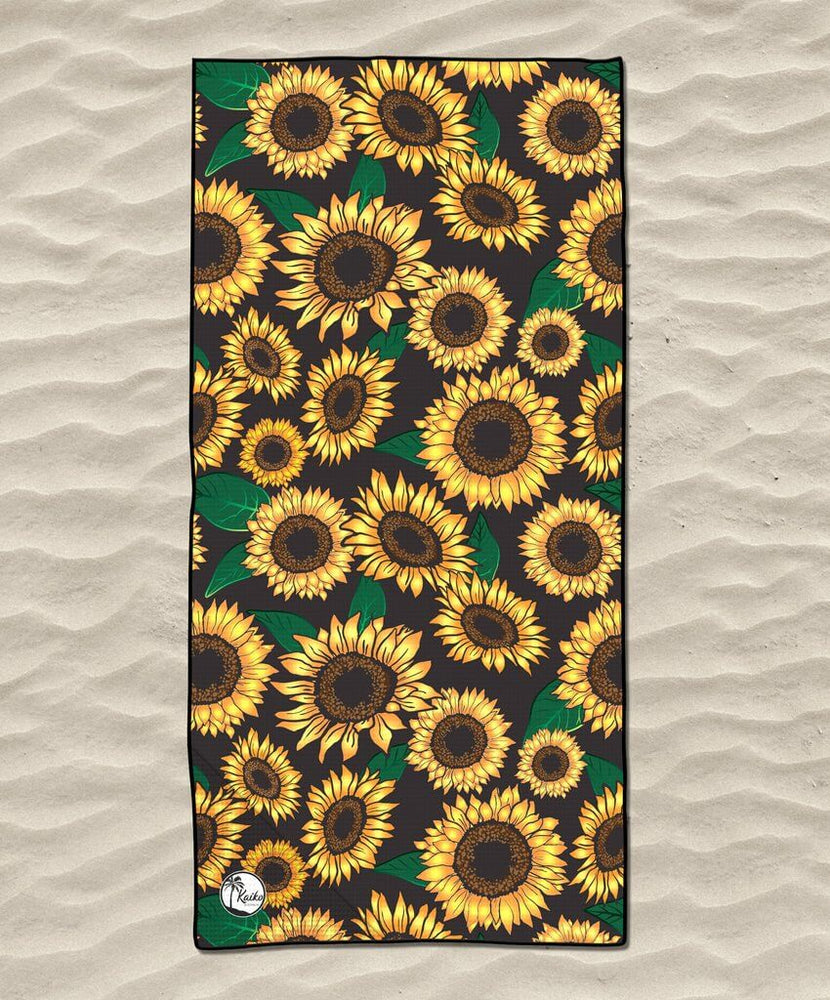 lightweight quick dry beach towel sunflowers