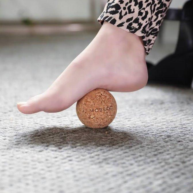 Cork Roller Ball and Peanut Set, Eco-friendly, Mobeco