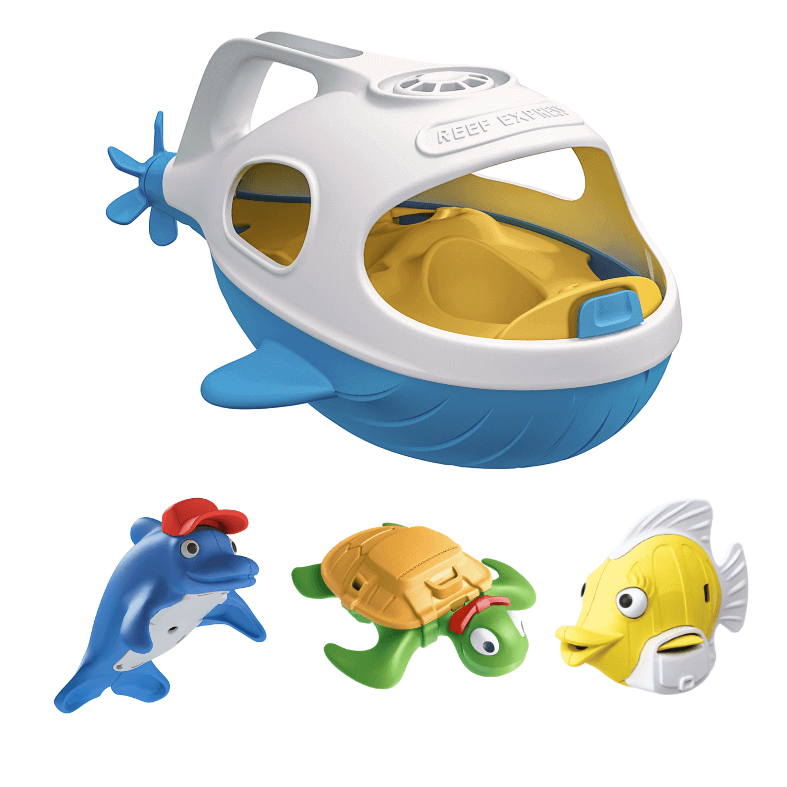 Bath Toys Set, Reef Express, Happy Planet Toys