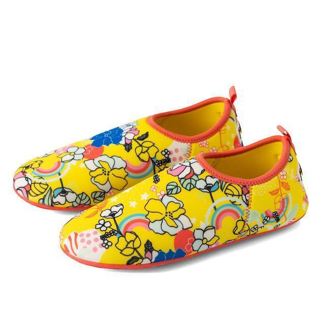 protective beach shoes for toddlers minnow design yellow