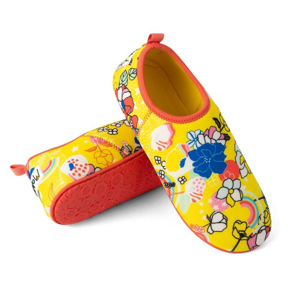 Beach Shoes for Toddlers and Kids, Minnow Designs, Florality