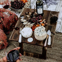 Folding Picnic Table with Wine Holder, Indi Tribe