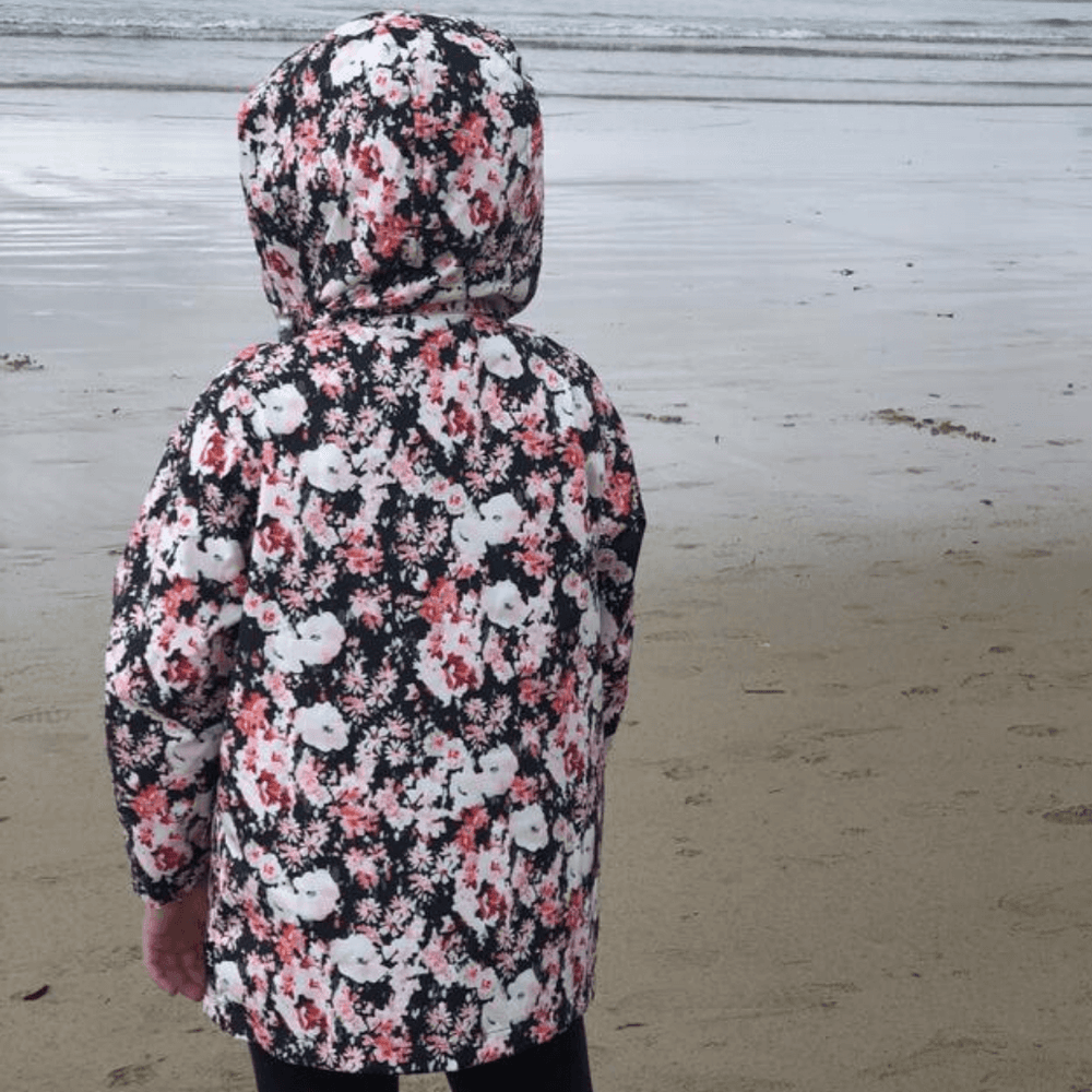 eco friendly kids raincoat floral australia