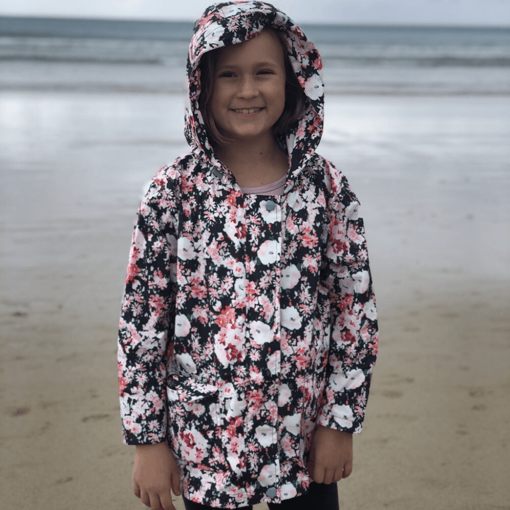 girls raincoat packable recycled plastic paqme melbourne