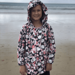 Kids Recycled Packable Rain Jacket, Fleur, PAQME