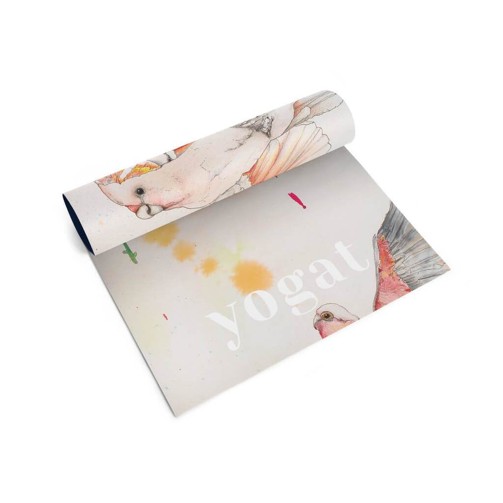 yogat printed yoga mats for kids rainbow