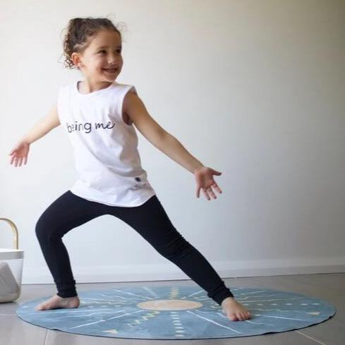 kids yoga mat round