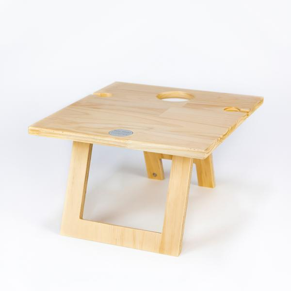 portable wooden picnic table 2 wine glass slots Indi Tribe Collective