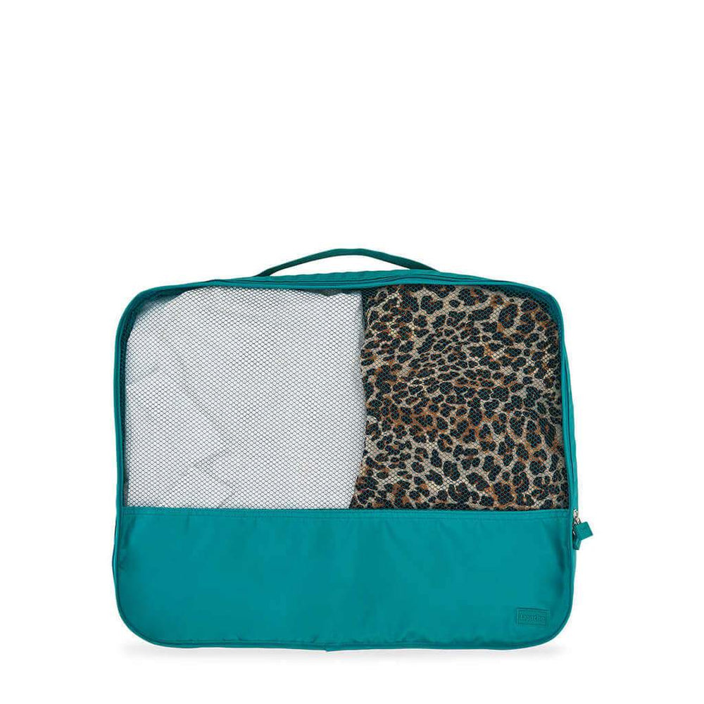 suitcase organiser large teal lapoche