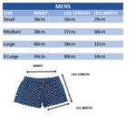 men's board shorts size guide