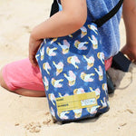 dry beach bag for kids minnow design cockatoo
