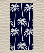 quick dry ecofriendly beach towel navy blue