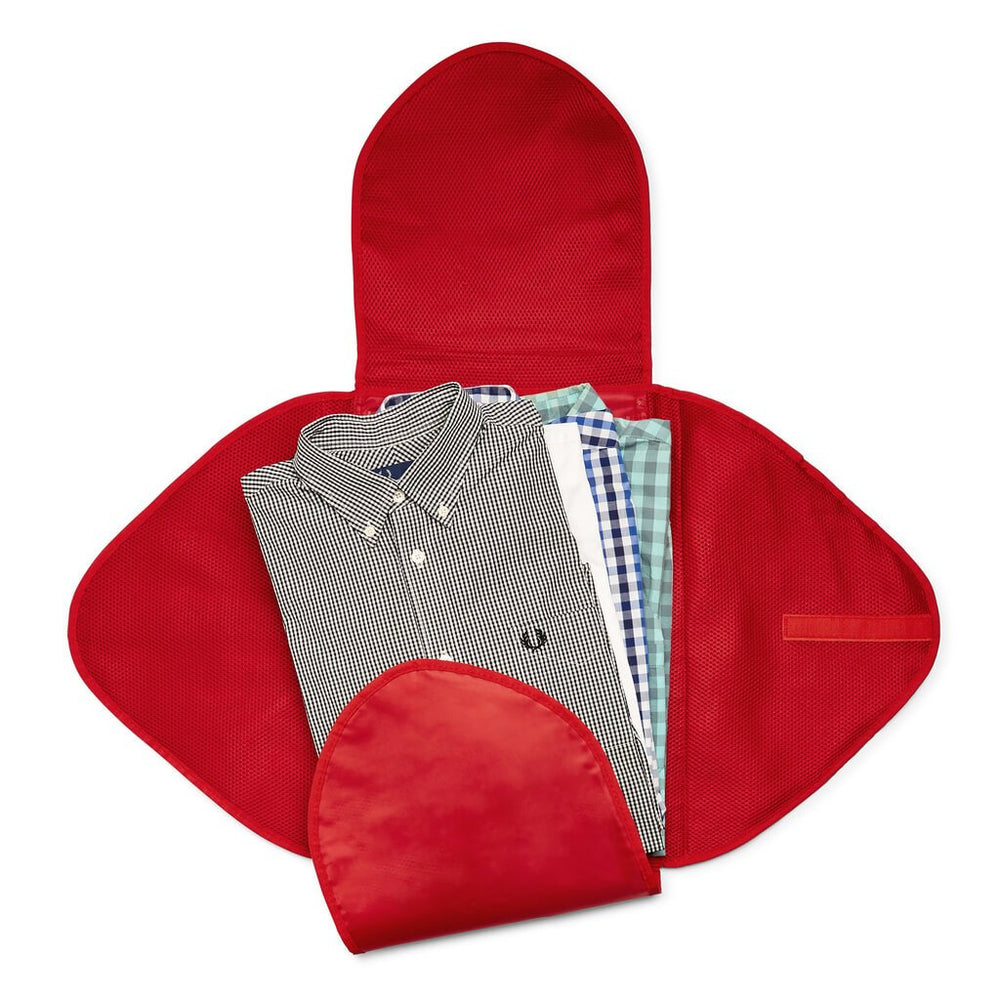 shirt packing folder red