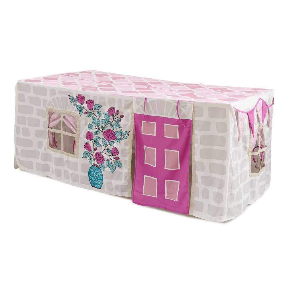 Tablecloth Playhouse, Home Sweet Home, Pink