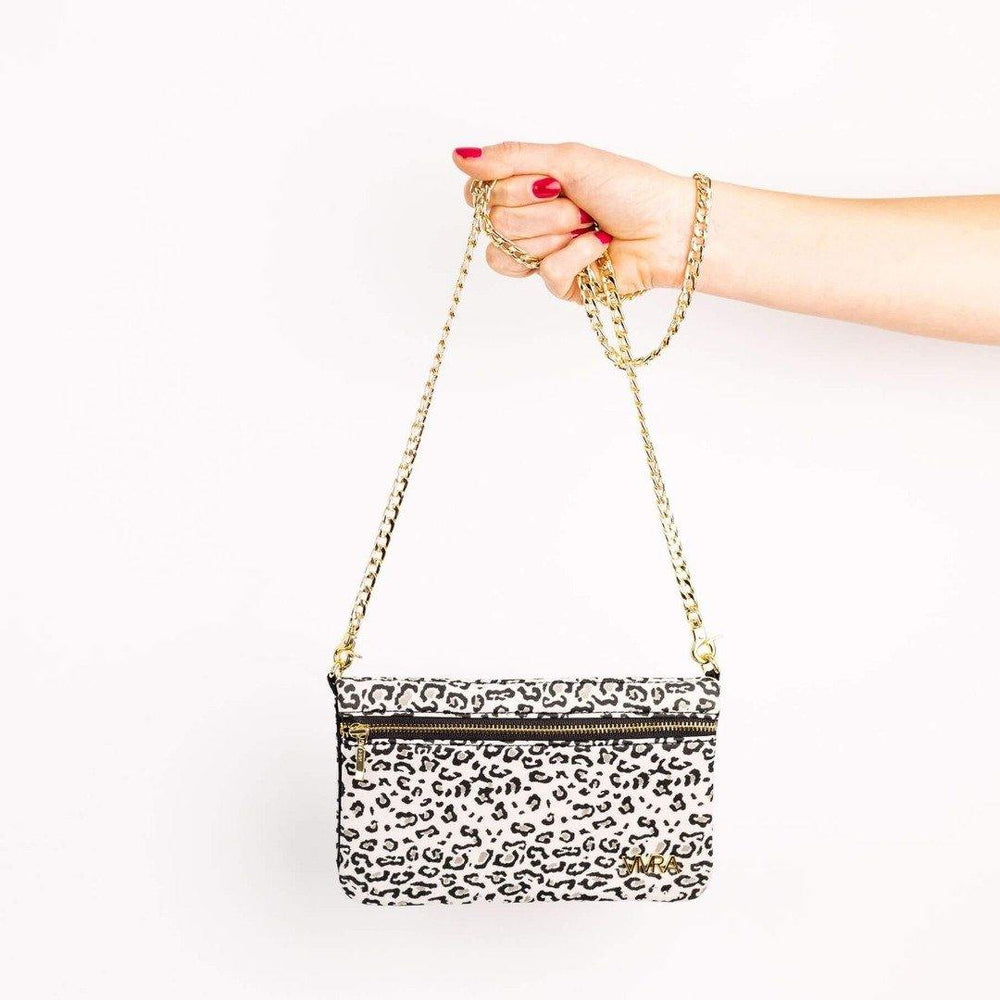 phone running pouch leopard print