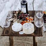 folding wooden picnic table with 4 wine glass slots Indi Tribe Collective