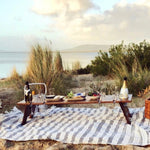 folding wooden picnic table 8 wine glass slots Indi Tribe Collective