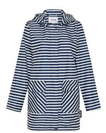 womens raincoats melbourne navy stripe
