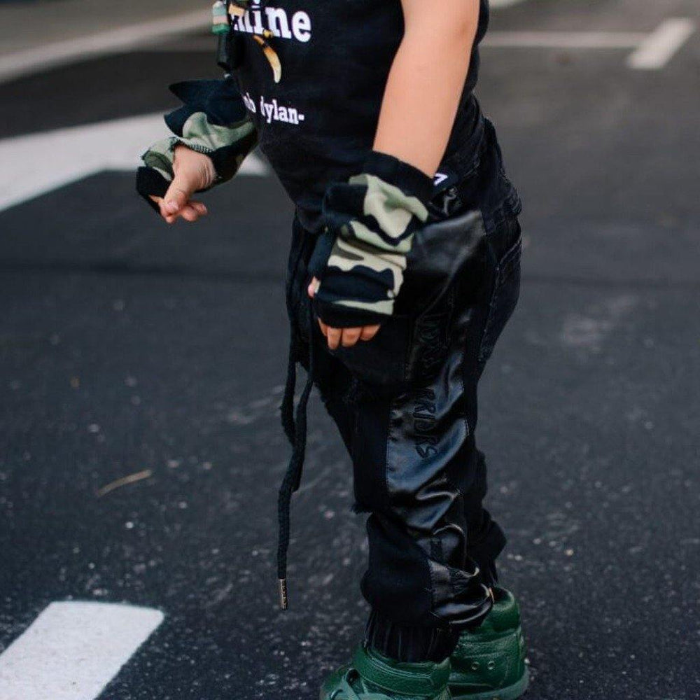 ripped jeans for kids wild warriors black