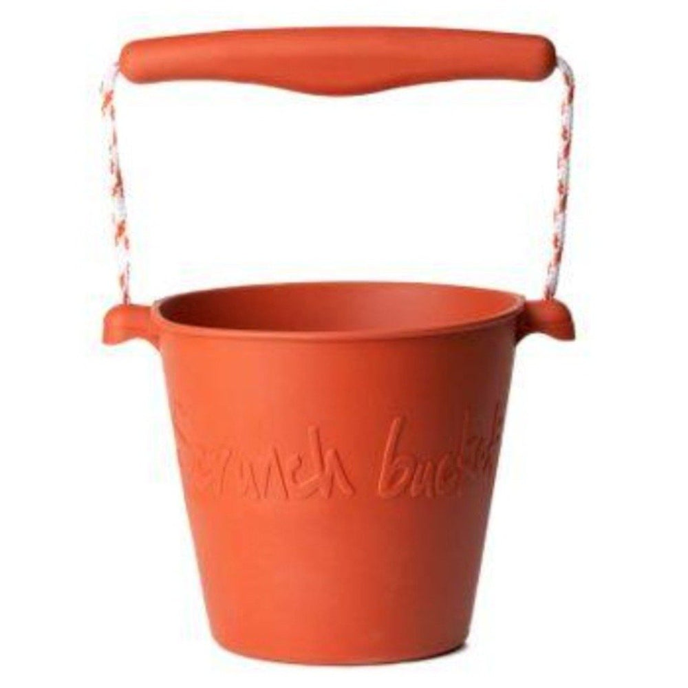scrunch beach bucket rust colour