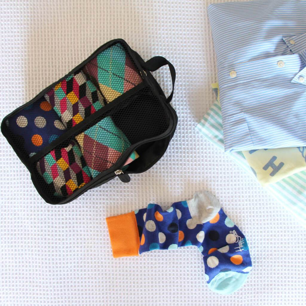travel bag for socks black