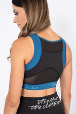 womens sports bra black mesh back