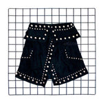 Matching Black Velvet Stud Skirt, Wild Warriors