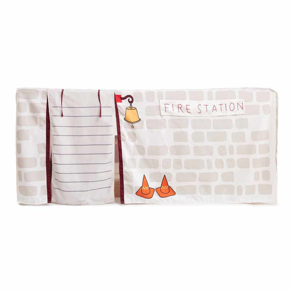 firetruck  tablecloth cubby