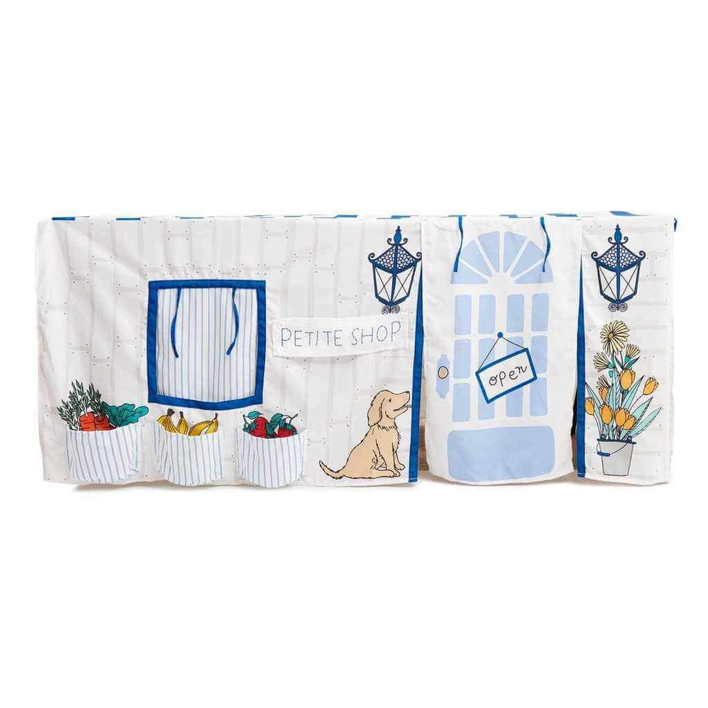 tablecloth playhouse shop blue