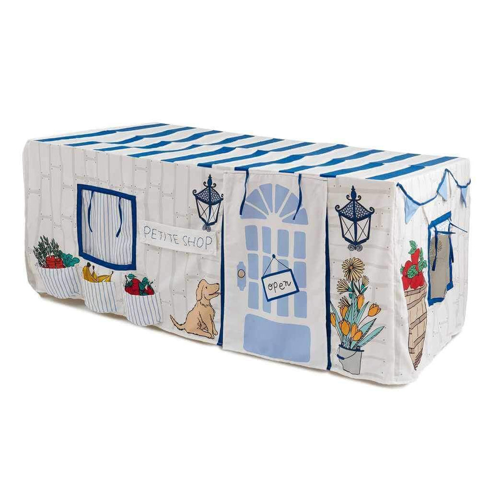 Tablecloth Playhouse, Little Shop, Blue