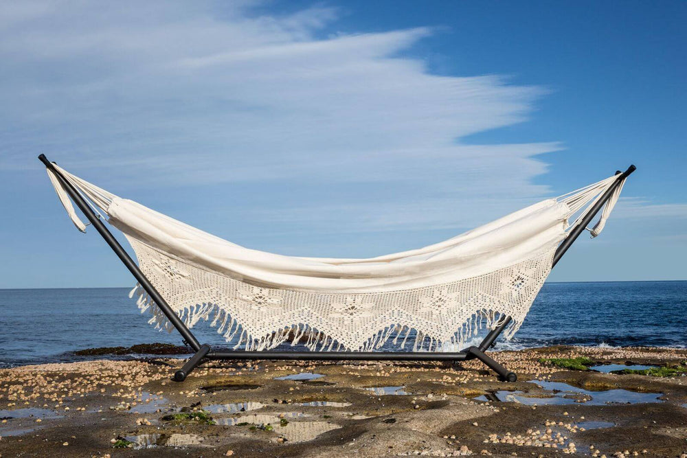hammock with stand white boho