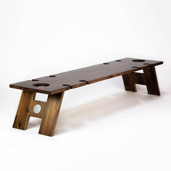 folding beach table 8 wine glass slots Indi Tribe Collective