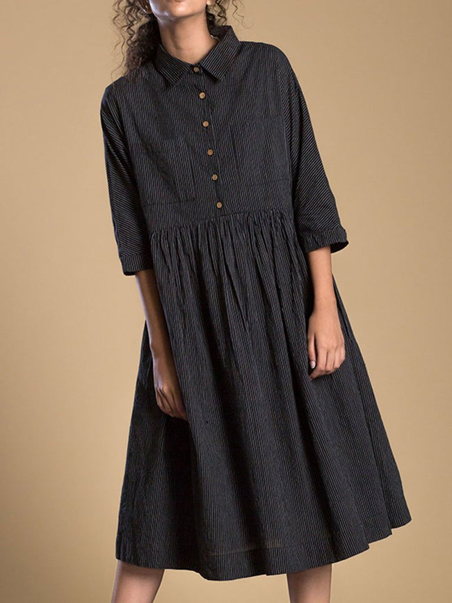 Black Shirt Dress - DRESSES - IKKIVI - Shop Sustainable & Ethical Fashion