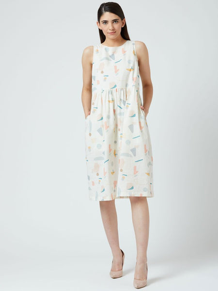 Angela Printed Dress - DRESSES - IKKIVI - Shop Sustainable & Ethical Fashion