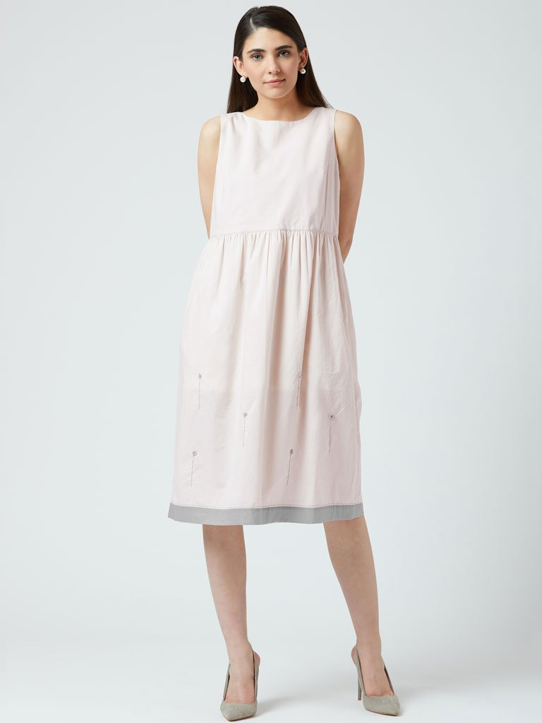 Angela Embroidered Dress - DRESSES - IKKIVI - Shop Sustainable & Ethical Fashion