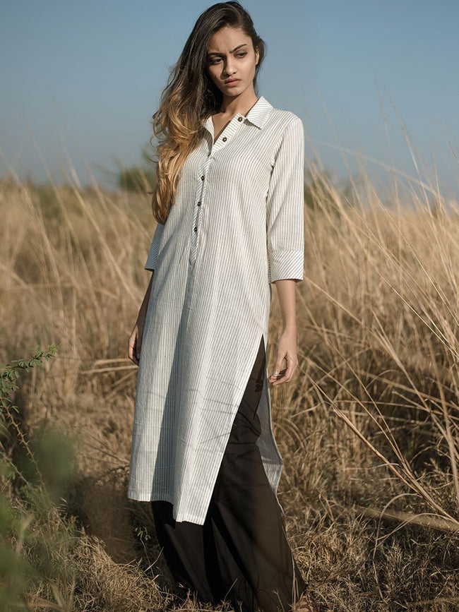 The Collared Tunic - TOPS - IKKIVI - Shop Sustainable & Ethical Fashion