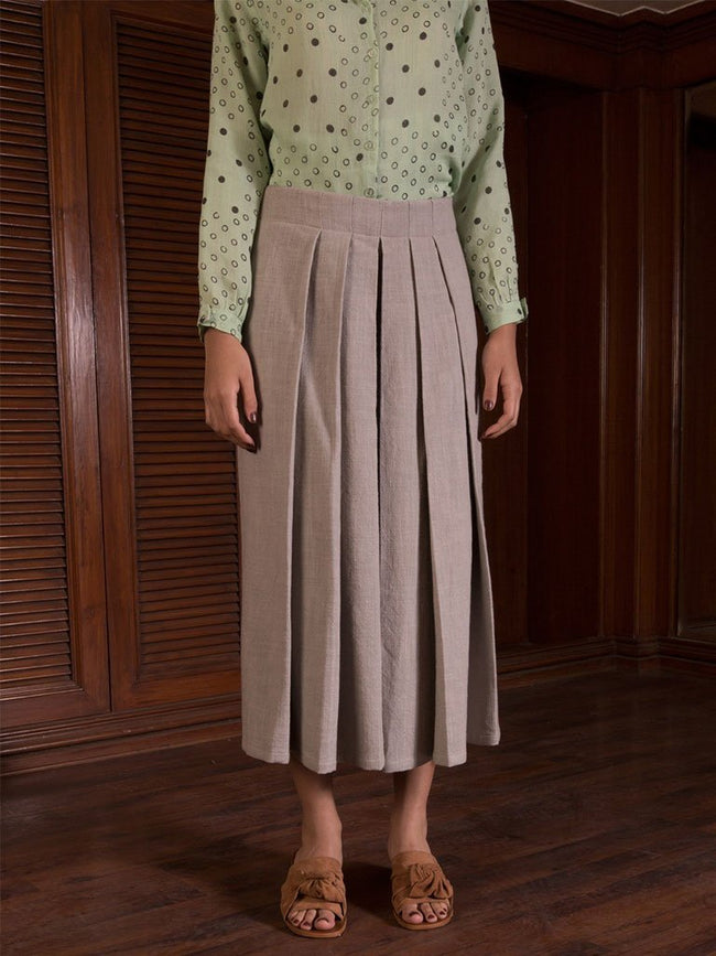 Pleated Wide Legged Trousers - SKIRTS & TROUSERS - IKKIVI - Shop Sustainable & Ethical Fashion