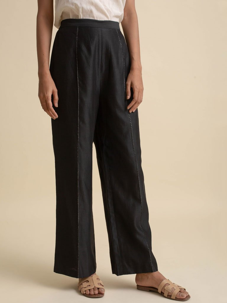 Wide Leg Pants - BOTTOMS - IKKIVI - Shop Sustainable & Ethical Fashion