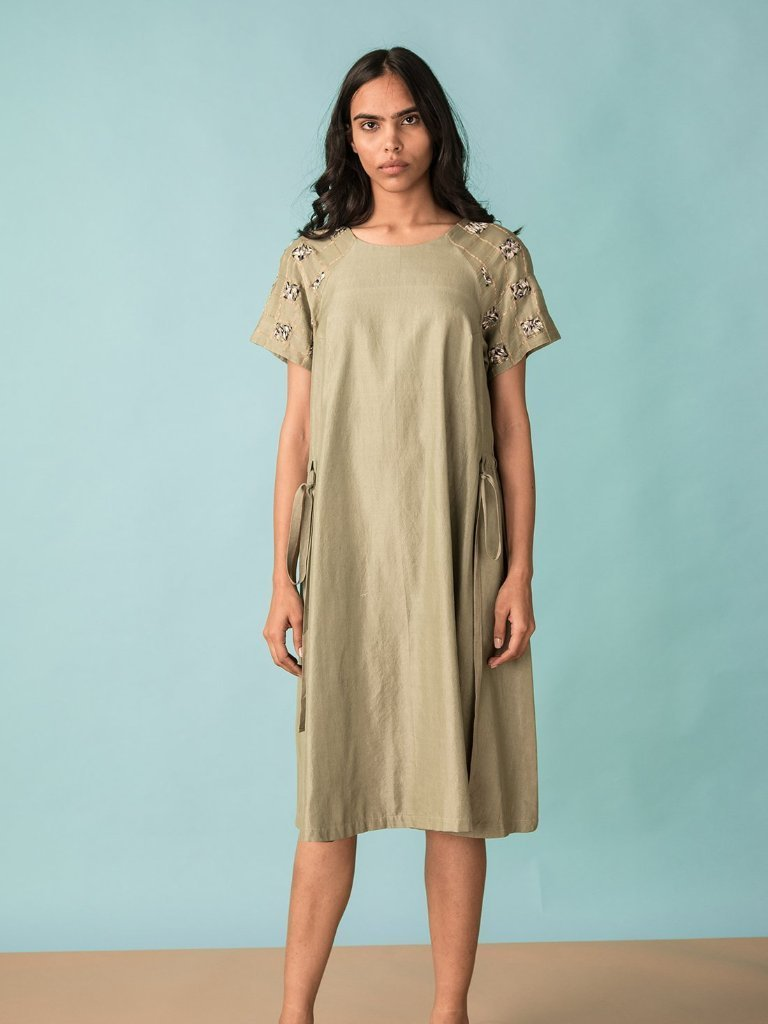A-Line Dress with Drawstrings - DRESSES - IKKIVI - Shop Sustainable & Ethical Fashion