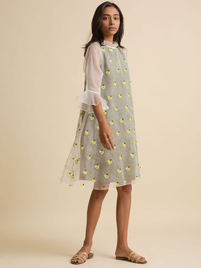 Floral Organza Dress - DRESS - IKKIVI - Shop Sustainable & Ethical Fashion